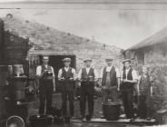 Workmen at Hayes Pottery, Buckley, c. 1910