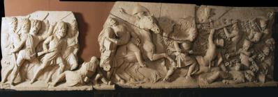 Bas-relief scene from the Picton Monument,...
