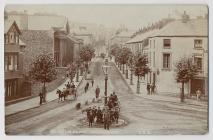 Salutation Square, Hwlffordd, tua'r flwyddyn 1900