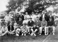 Montgomery Cricket Team with visitors, c. 1910