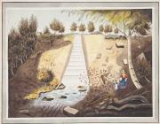 'A Waterfall at Swydd y Funnon', yn ôl pob...