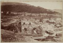 Building the wall of the Vyrnwy dam, October 1884