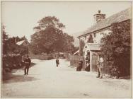 A street in the village of Llanwddyn, 1886