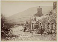 The village of Llanwddyn after demolition, c....