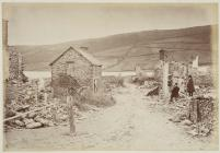 The village of Llanwddyn after demolition, c. 1887
