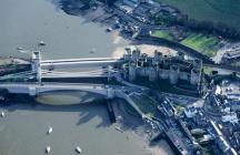 CONWAY SUSPENSION BRIDGE;TELFORD SUSPENSION BRIDGE