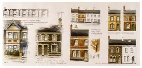 Drawings of terraced houses in Newport by...