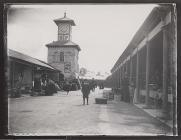 Carmarthen Market and Clock Tower, c. 1900