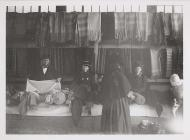 Buying cloth at Carmarthen Market, c. 1900