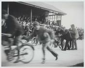 Get ready: the start of a motor cycle race,...