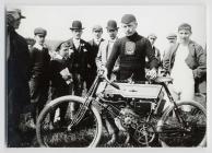 An early motor cyclist, Carmarthen, c. 1905