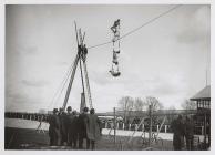 A high wire act, Carmarthen Park, c. 1900