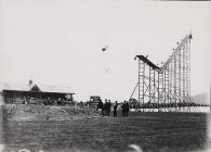 Cycle stunt in Carmarthen Park, c. 1900