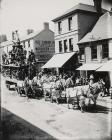 Circus parade in Lammas Street, Carmarthen, c....
