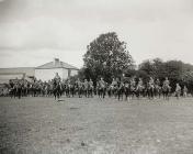 Military unit in Carmarthen Park, c. 1900-05