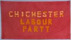 Banner of the Chichester Labour Party, 1984