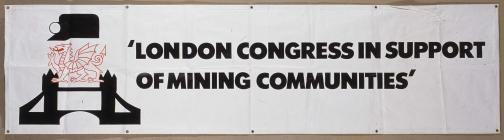 Banner of the London Congress, supporting the...