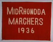 Banner of the Mid Rhondda Marchers, 1936