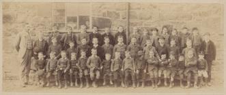 The boys and head teacher of Meifod school, 1890s
