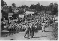 Livestock market, Builth Wells, 1955