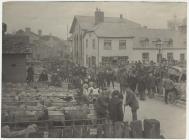 Sheep market, Builth Wells, 1905