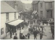 Cattle market, Builth Wells, 1905