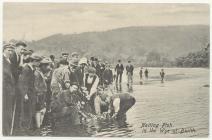 Pysgota gyda rhwyd ar Afon Gwy, 1900au
