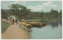 The Lake and Boathouse, Llandrindod Wells, 1900s