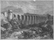 Engraving of Knucklas railway viaduct, c. 1865