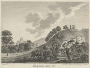 Montgomery Castle remains, 1786