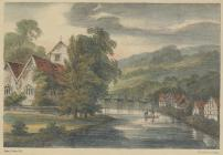 Engraving of Newtown, c. 1823