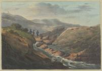 Engraving of source of the River Severn, 1823