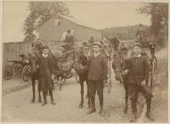 Carriages for hire, Llandrindod Wells, c. 1910