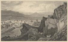 Engraved view of Machynlleth,  c. 1790