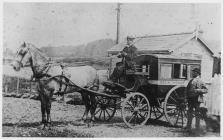 Cerbyd Gwesty, Llandrindod, tua'r flwyddyn 1890