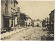 Street scene in Rhayader, c. 1900