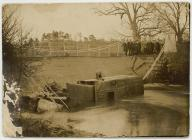 Bridge collapse at Llanbadarn Fawr,  1923