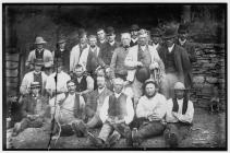 Estate workers in the Elan Valley,  1880s