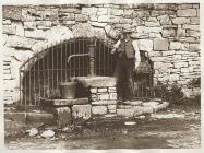 Village water pump, Llanddew, near Brecon, c. 1900