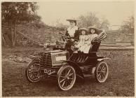 Car yn sir Frycheiniog ym 1905