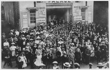Cinema treat for children, Brecon, 1912