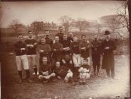 Brecon football club team, c. 1880