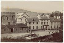 Gwesty'r Castell, Aberhonddu, tua'r flwyddyn 1900