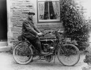 Pioneering motorcyclist, Gilwern, 1900s