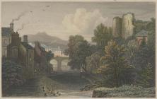 Engraving of Brecon, 1829