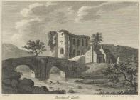 Engraving of Brecknock Castle, 1786