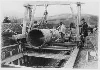 Pipeline construction, Elan Valley waterworks,...
