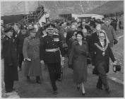 Queen Elizabeth opens the Claerwen Dam, 1952