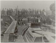 Bridge builders at Welshpool, 1900
