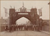 Decorations for royal visit to Welshpool, 1909